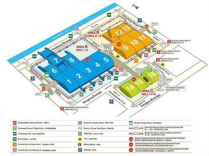 canton-fair complex map