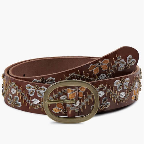 BEADED FLORAL embroidery BELT