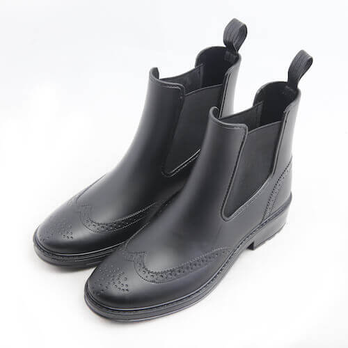 Oxford style rain shoes