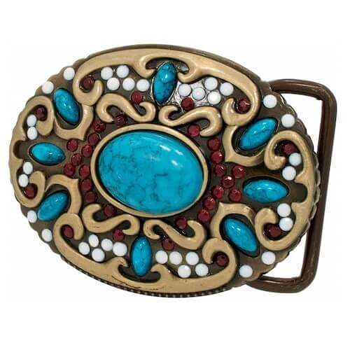 belt buckle with resin