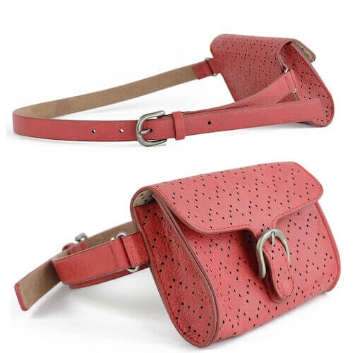 leather waist belts with bag