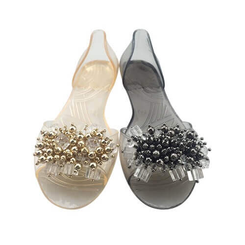 shoes ornament with beads