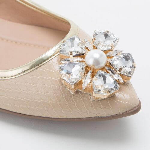 shoes ornament with pearl